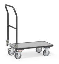 Összecsukható áruszállító kocsi KW 1 szürke, rakfelület 720 x 450 mm, 250 kg