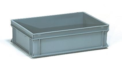 Műanyag doboz, EURO, szürke, 600 x 400 x 170 mm, 30l