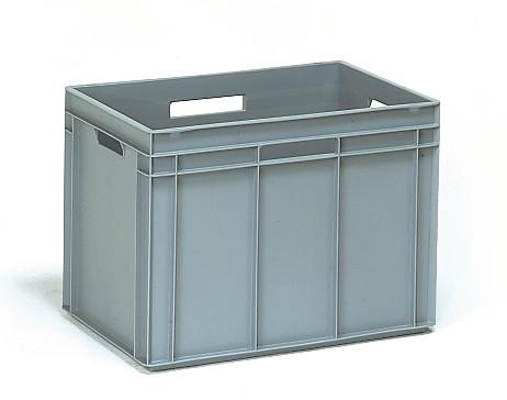 Műanyag doboz, EURO, szürke, 600 x 400 x 425 mm, 90l