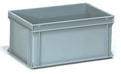 Műanyag doboz, EURO, szürke, 600 x 400 x 280 mm, 53l