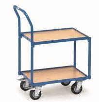 EURO dobozos kocsi, 2 szintes, peremes, fogantyús, rakfelület 605 x 405 mm, 250 kg