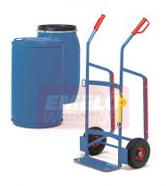 Hordószállító kocsi 2081 műanyag hordókhoz, 120-220 l hordóhoz, 250 kg, levegős abroncsokkal