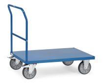 Áruszállító kocsi 2502B fémlappal, rakfelület 1.000 x 700 mm, 600 kg