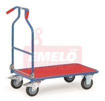 Áruszállító kocsi Optiliner 3301, kék/piros, rakfelület 900 x 600 mm, 400 kg