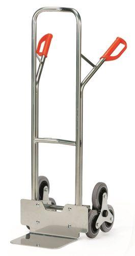 Lépcsőjáró molnárkocsi ALU AK 1325, rakfelület 250x320, 200 kg, 3 gördülő kerékkel
