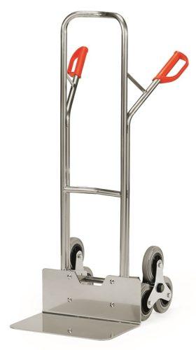 Lépcsőjáró molnárkocsi ALU AK 1326, rakfelület 300x480, 200 kg, 3 gördülő kerékkel