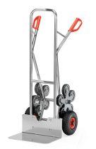 Lépcsőjáró molnárkocsi ALU AK 1328, rakfelület 300x480, 200 kg, 5 gördülő kerékkel