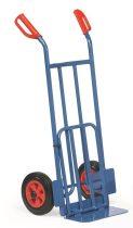 Rekesz szállító molnárkocsi K1116V, rakfelület 150/500 x 400/330 mm, 250 kg, tömörgumi kerekekkel