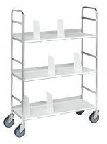Könyvtári irodai szállítókocsi KONGAMEK KM151, 75 kg