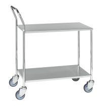 Rozsdamentes asztalkocsi KONGAMEK KM272B, 200 kg