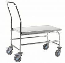 Rozsdamentes asztalkocsi KONGAMEK KM60363-S, rakfelület 710 x 360 mm, 100 kg