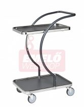 Design tálalókocsi KONGAMEK KM96200 C-LINE, rakfelület 595 x 360 mm, 120 kg