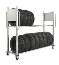 Gumiabroncsszállító kocsi KONGAMEK KMD3B, 300 kg