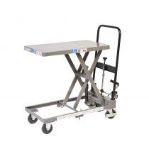 Emelőasztal kézi ollós, M-LT-150, rakfelület 700x400, 150 kg