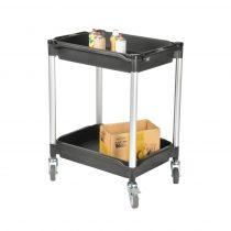 Asztalkocsi MATADOR 608E Fekete, rakfelület 790x480mm, 200kg