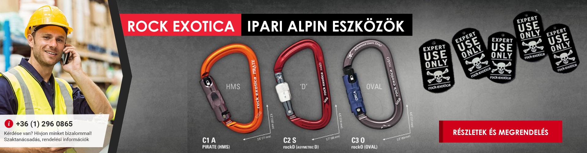 Rock Exotica ipari alpin eszközök